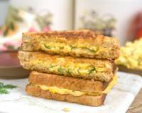 Grilled Cheese Sandwich Recipe With Scrambled Eggs
