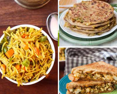 Kids Lunch Box Menu Plan-Spiced Kumbh Pulao, Palak Paneer Bhurji  & More