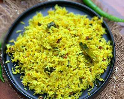 Mavinakayi Chitranna Recipe - Spiced Raw Mango Tempered Rice