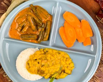 Satisfy Your Cravings With Comforting Bengali Meal Of Cholar Dal, Bhindi Doi Posto And Rice
