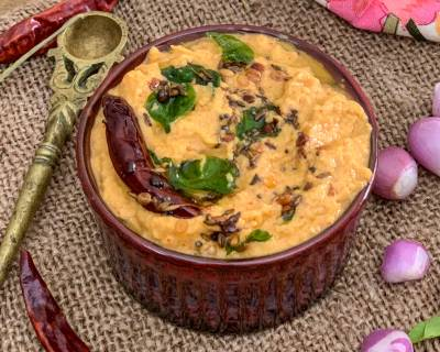 Red Chilli Coconut Chutney Recipe - South Indian Chutney
