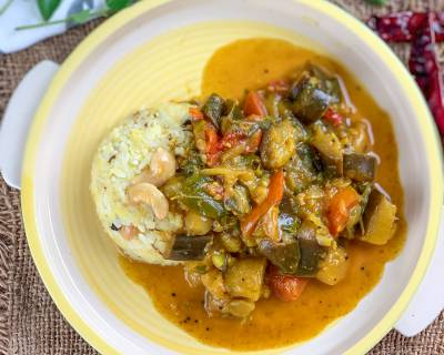 Kathirikai Gothsu Recipe - South Indian Style Spicy and Tangy Eggplant Curry