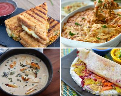 Weekly Meal Plan - Grilled Hummus Paneer Bhurji Sandwich, Garlic Dal And Much More