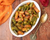 Aloo Bhindi Sabzi Recipe - Potatoes Lady's Finger Stir Fry