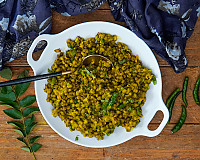 Gujarati Vaghareli Mag Recipe - Whole Green Moong Dal Sabzi Recipe