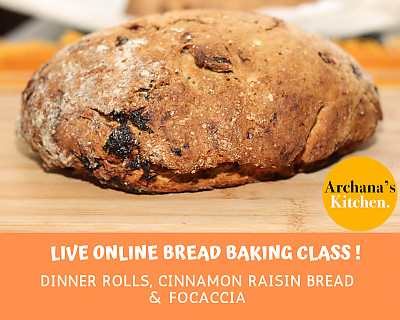 Live Online Cooking Class | May 16th 2020 - Bread Baking Class