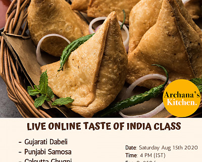 Live Online Cooking Class | Aug 15th 2020 - Taste of Indian (Independence Day Special)