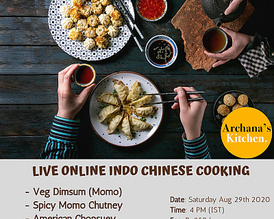 Live Online Cooking Class | Aug 29th 2020 - Indo Chinese Party