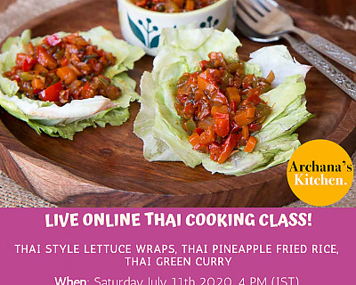 Live Online Cooking Class | July 11th 2020 - Thai Cooking Class