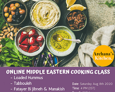 Live Online Cooking Class | Aug 8th 2020 - Taste of Middle East