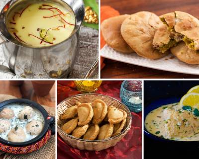 102 Traditional Holi Recipes You Must Try - Gujiya | Kulfi | Thandai | Chaats & More