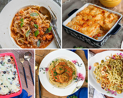 114 Easy Pasta Recipes - Desi Pasta, Italian Pasta, Fusion Pasta With White Sauce & Red Sauce