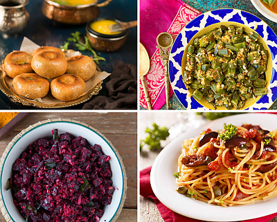Weekly Meal Plan - Baked Dal Baati, Sun Dried Tomato Pasta, Mysore Masala Dosa, and More