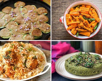 Weekly Meal Plan - Zucchini Pesarattu, Chana Kofta Biryani, Muttai Dosa, and More