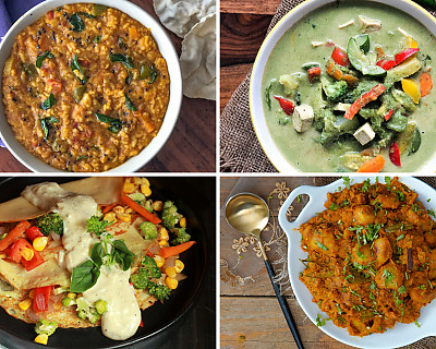 Weekly Meal Plan - Whole Wheat Pita, Quinoa Pulao, Lemon Rasam, and More