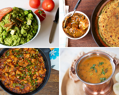 Weekly Meal Plan - Thai Grilled Pineapple, Tawa Gobi Manchurian, Dhaba Style Dal Fry, and More