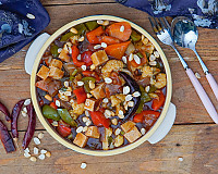 Vegetables in Schezwan Chilli Garlic Sauce Recipe - Indo Chinese Dish