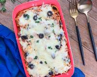 Cheesy Baked Spaghetti Pasta Recipe