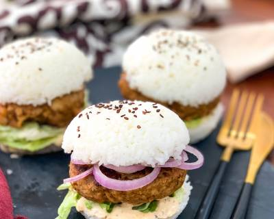 Asian Shrimp Rice Burger Recipe