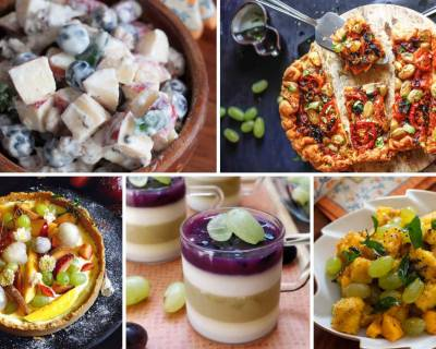 15 Grape Recipes That You Must Try Today - Salads | Desserts | Appetizers