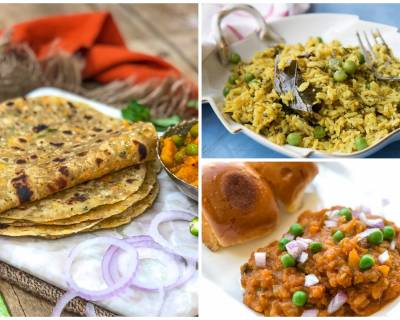 Kids Lunch Box Menu Plan - Cabbage Carrot Onion Pudina Thepla, Methi Matar Pulao And More