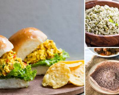 Kids Lunch Box Menu Plan-Pudina Rice, Paneer Bhurji Pav Sandwich , Ragi Appam & More