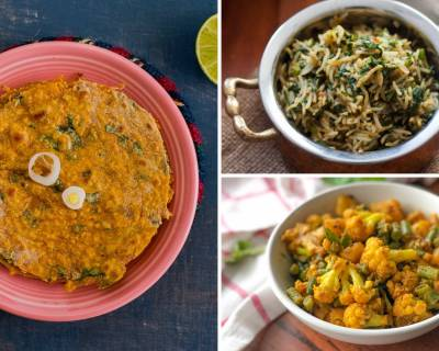 Kids Lunch Box Menu Plan-Spinach Pulao,Vegetable Kurma & More