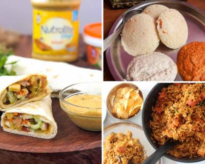 Kids Lunch Box Menu Plan-Spongy Quinoa Idli, Paneer Kathi Roll & More