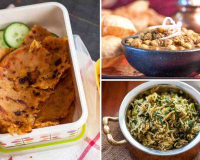 Kids School Lunch Box Menu Plan-Aloo Paratha, Puri Chole & More