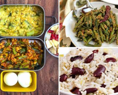 Kids School Lunch Box Menu Plan-Paneer Paratha, Rajma Pulao, Kadai Paneer & more