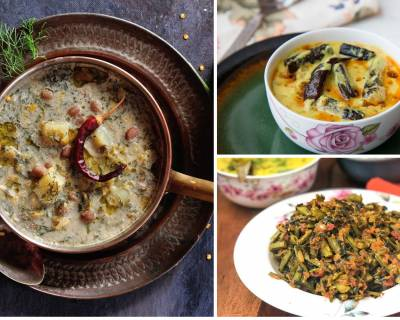 Office Lunch Box Menu Plan-Bengali Aloo Jhinge Posto Curry,Punjabi Bhindi Kadhi & More