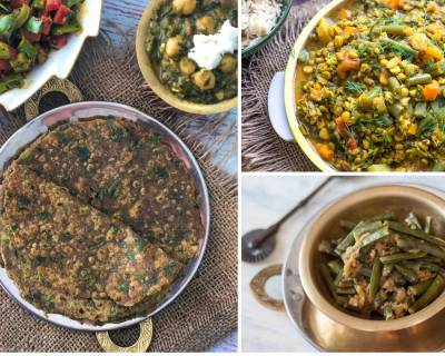 Office Lunch Box Menu Plan-Crispy Amla Gawar Phali Sabzi,Kashmiri Style Pulao & More