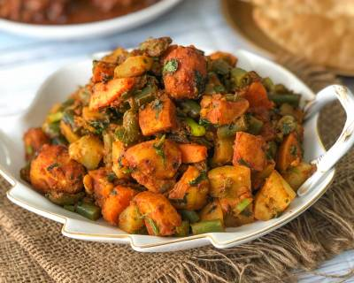 Satsaagi Recipe - Sindhi Seven Vegetable Sabzi No Onion No Garlic