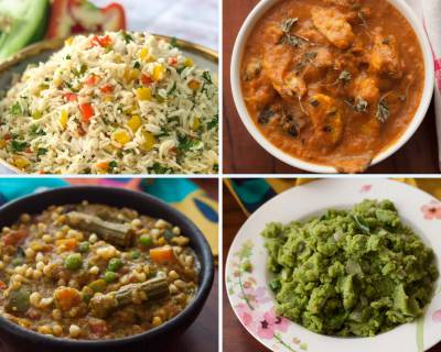Weekly Meal Plan - Bisi Bele Bath, Baby Corn Butter Masala And Much More