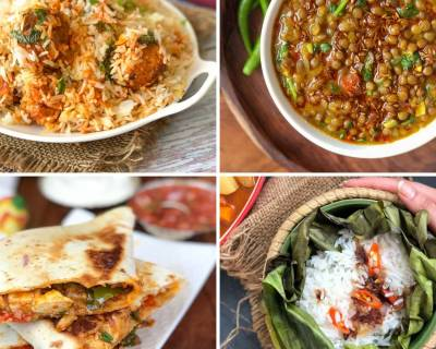 Weekly Meal Plan - Kabuli Chana Kofta Biryani, Chilli Paneer Quesadillas And Much More