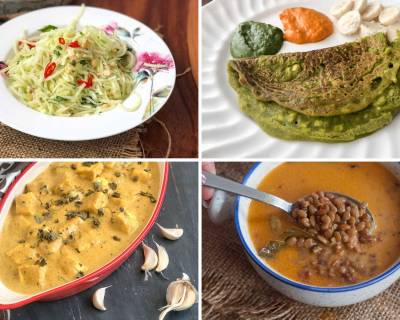 Weekly Meal Plan - Raw Papaya Salad, Lehsuni Methi Paneer And Much More