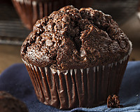 Double Chocolate Chip Muffins Made From Archana's Kitchen Eggless Rich Chocolate Cake Mix