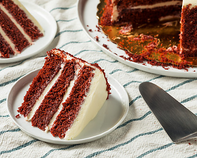 Strawberry Cream Layer Cake Made From Archana's Kitchen Eggless Strawberry Velvet Cake Mix
