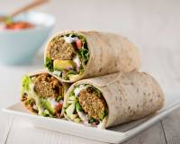 Roasted Carrot Hummus Falafel Wrap Recipe