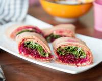 Italian Oat Tortilla Wrap with Beetroot Hummus Recipe