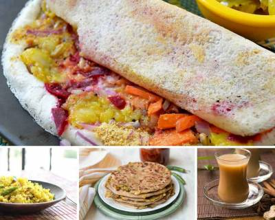 Weekly Breakfast Meal Plan - Poha, Dosa, Aloo Paratha & more