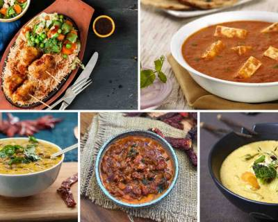 Weekly Dinner Recipe : Tandoori Paneer Tikka Masala, Kerala Kadala Curry, Mushroom Cutlet Sizzler & More