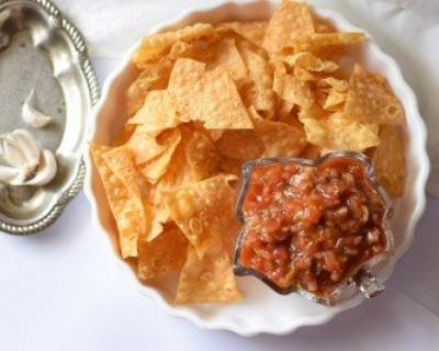Tea time snack recipes party starter recipes by archanas kitchen homemade nachos recipe forumfinder Image collections