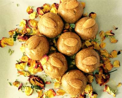 Badam And Besan Ladoo Recipe