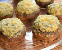 Four Cheese and Spinach Stuffed Mushrooms Recipe