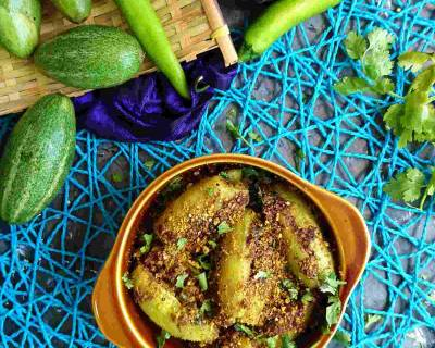 Bharwa Parwal Sabzi Recipe -Stuffed Pointed Gourd Dry Vegetable