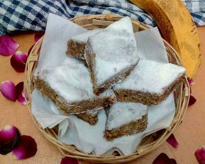 Uparghi Laadu Recipe - Whole Wheat Flour & Banana Squares