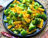 Sweet Potato & Broccoli Sabzi Recipe
