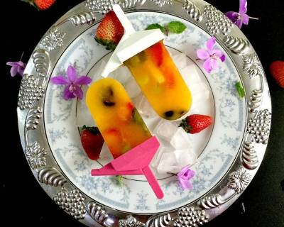 Mango & Mixed Fruit Popsicle Recipe