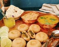 Baked Stuffed Baati With Churma And Panchratna Dal Recipe